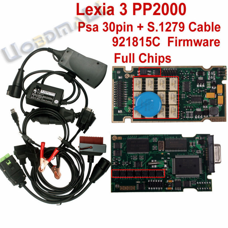 Serial 921815C Lexia3 V48 PP2000 V25 With Original Full Chip Diagbox 7.40 Lexia 3 Diagnostic Tool +Psa 30Pin Cable+ S.1279 Cable<br><br>Aliexpress