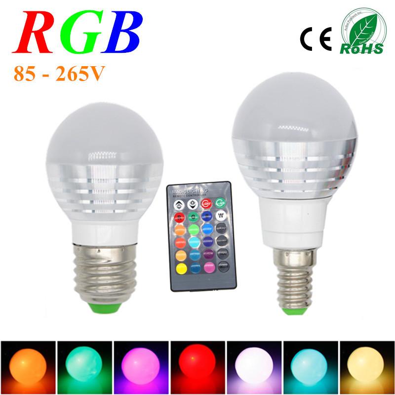 3W RGB Lampada LED Bulb E27 85 265V RGB LED Lamp E27 220V 110V Spotlight Lamparas LED Light Bulb     -> Lampada Led Rgb
