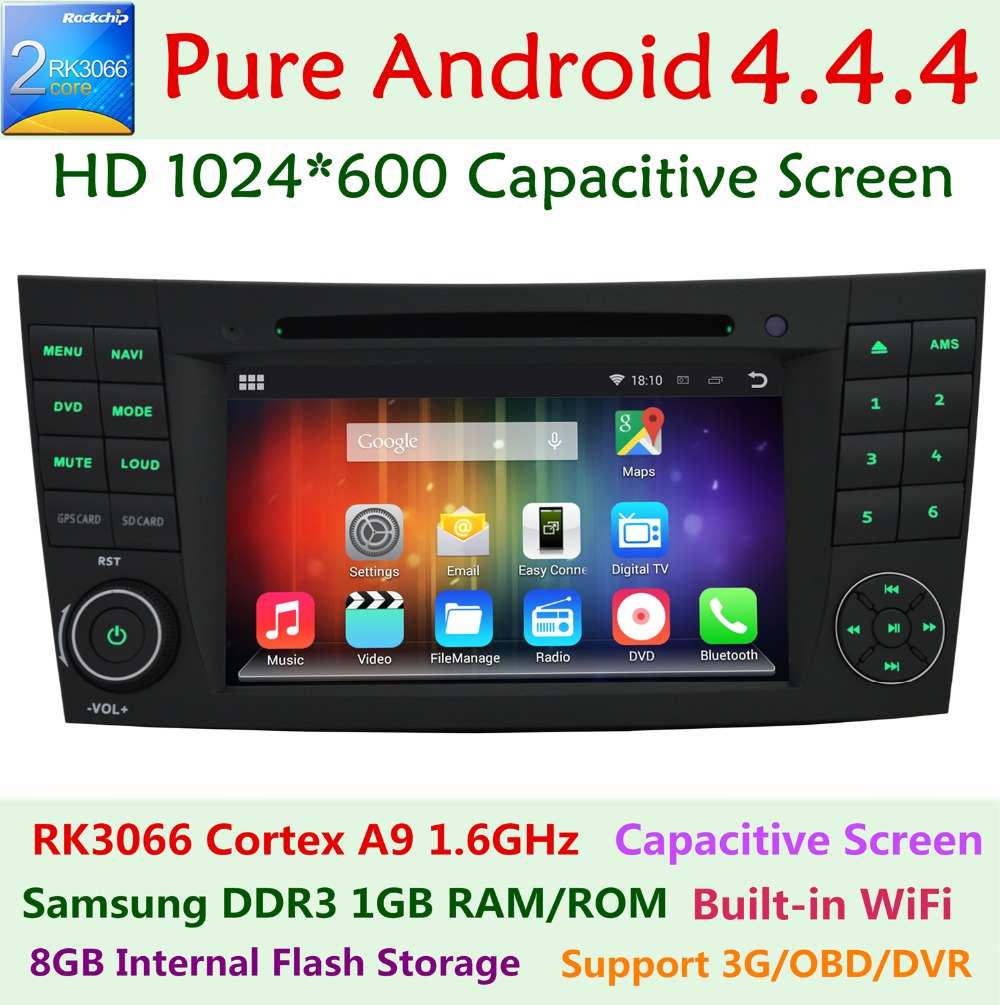 1024X600 Android 4.4.4 Car DVD Mercedes Benz E Class W211 E200 E220 E240 E270 E280 2002-2008 Dual Core 1.6GHz WIFI Radio GPS - ShenZhen Burgeon Technology Co.,Ltd store