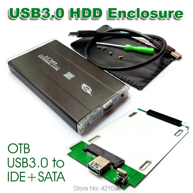 Universal 2.5 inch IDE / SATA USB3.0 External Hard Drive Box HDD Enclosure Case HD Box 2.5 IDE and SATA Hard Drive Universal(China (Mainland))