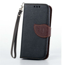 Buy S4 Mini Leaf Style Wallet Leather Case Cover Dual Card Slot Samsung Galaxy S4 SIV S IV 4 Mini i9190 Phone bags Cases for $3.33 in AliExpress store