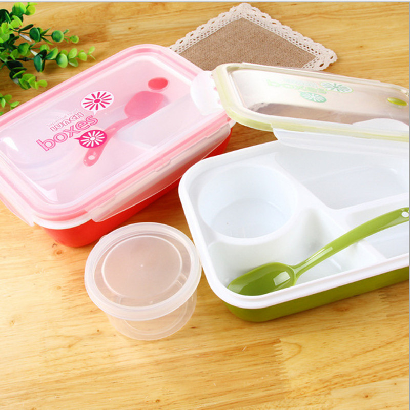Lunch Box Bento box Kids Food Container Soup Cup Spoon Microwaveable Bento Lancheira Dinnerware Set Thermos Food cooking tools(China (Mainland))