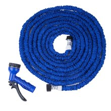 Extensible Expandable Fit Magic flexible Plastic Garden water Hose Drip Car Watering Spray Gun 25FT 50FT 75FT 100FT 125FT(China (Mainland))