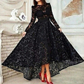Arabic Evening Dress Long Sleeve 2015 Lace Black Cheap Kaftan Islamic Dress Party Evening Elegnat vestido