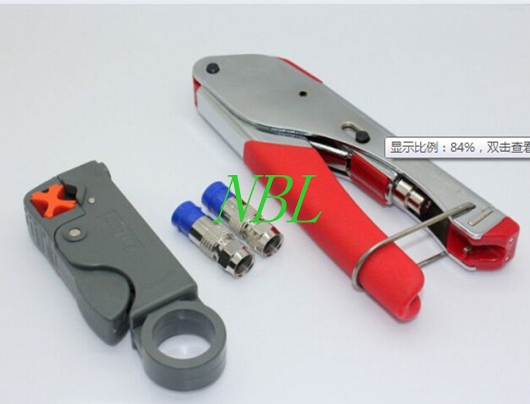High Quality!!! Coaxial Cable Wire Stripper RG6/RG59 Compression F Connector Tool Crimping Pliers Wire Stripping Pliers Kit(China (Mainland))