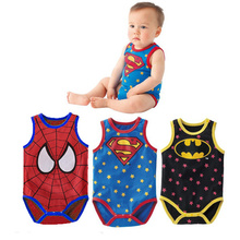 baby clothing  super heroes triangular jumpsuit rompers for newborns body suit kids clothes boys girls jumpsuit cotton clothing(China (Mainland))