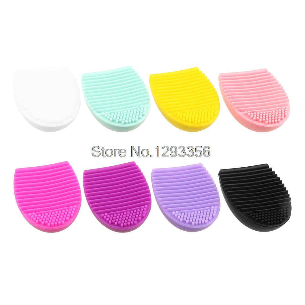 Egg Brush Scourer Squeegee Silicone Makeup Brush Cleaner Cleaning Brush Cleanser Make up Brush Cleaner Clean tools(China (Mainland))