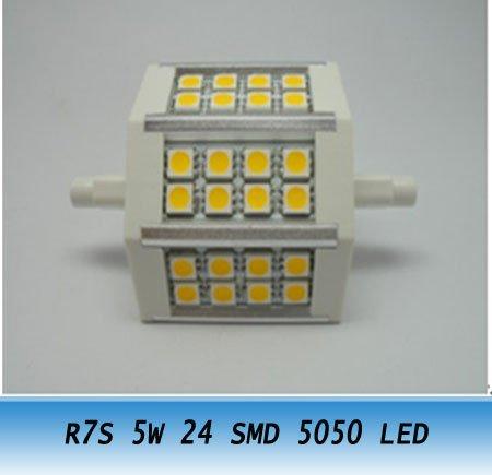 10PCS R7S 5W 24SMD 5050 LED Bulb Light 400LM led lamp<br><br>Aliexpress