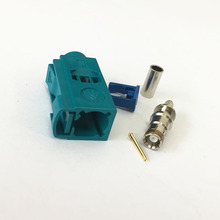 2PCS Fakra Z female connector water blue color crimp for RG316 RG174 Cable neutral coding(China (Mainland))