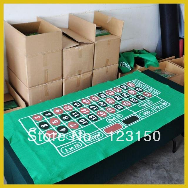 ZB-016 Non-woven fabric Texas Holdem Table Cloth, Roulette green felt with one zero(China (Mainland))