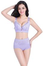 Jerrinut Sexy grande taille soutien-gorge culotte ensemble Super Push Up soutiens-gorge pour femmes sous-vêtements en dentelle fil libre respirant Lingerie ensemble(China)