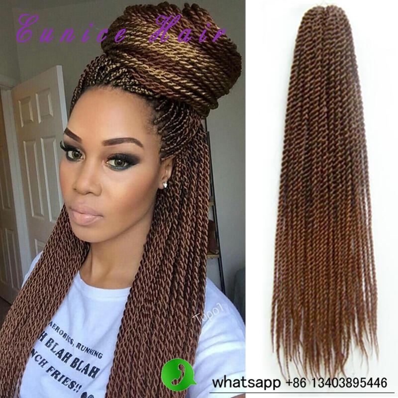 Jumbo Senegalese Twist Crochet Braids with Hair