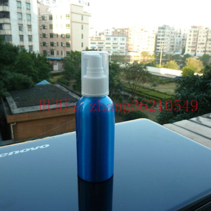 120ml aluminum blue bottle With white plastic pump.for lotion and essential oil. lotion cream packing<br><br>Aliexpress