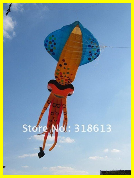 Free Shipping New Colorful High Quality 8*4m Cartoon Fish Nylon Soft Inflatable Show Kites