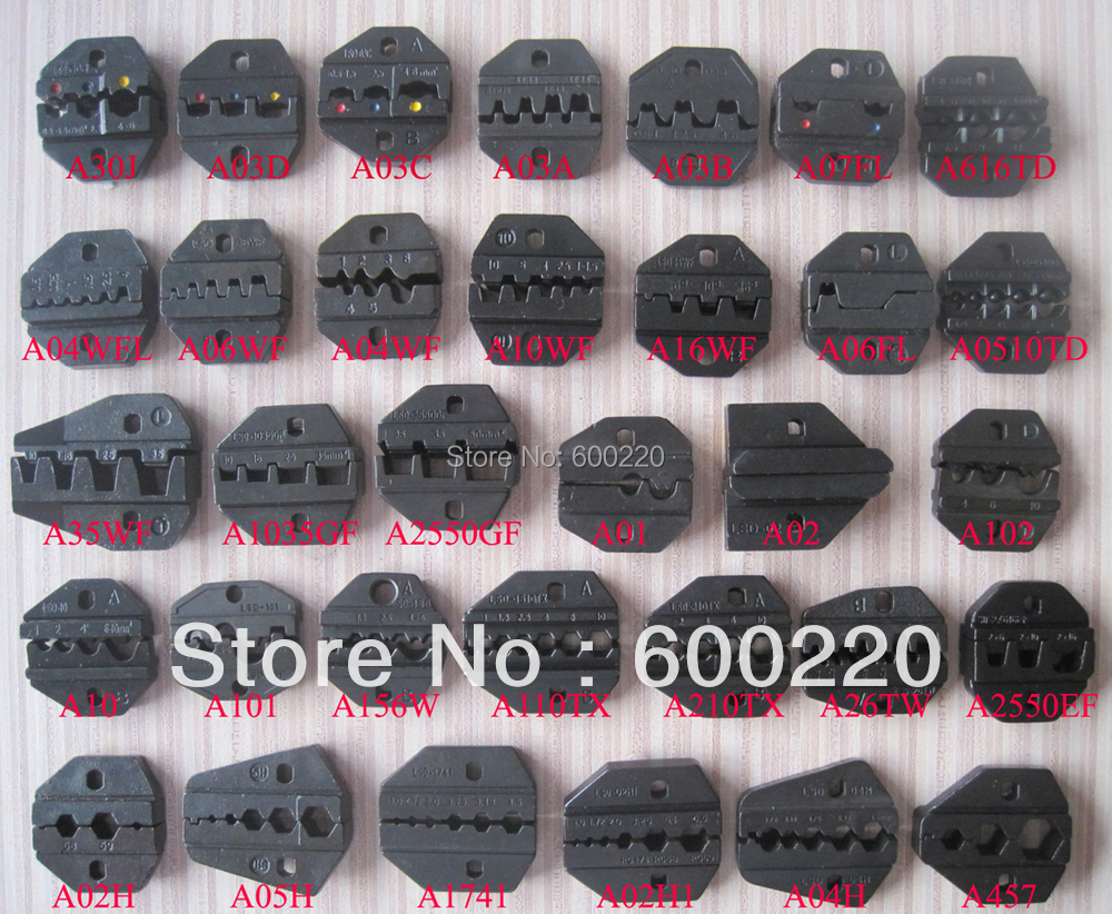 Die Sets for AM-10 Pneumatic Crimping Tools and EM-6B1/2 Electrical Crimping Tools(China (Mainland))