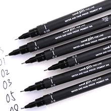 6PCS fineliner Pigma Micron Drawing Pen 005 01 02 03 04 05 08 Brush Waterproof Manga anime comic Pen NOT staedtler durable 308(China (Mainland))