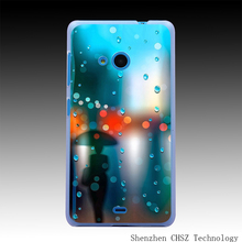1284O Woman Silhouetted In The Rain Hard Clear Case Transparent Cover for Microsoft Nokia Lumia 535 630 640 640XL 730