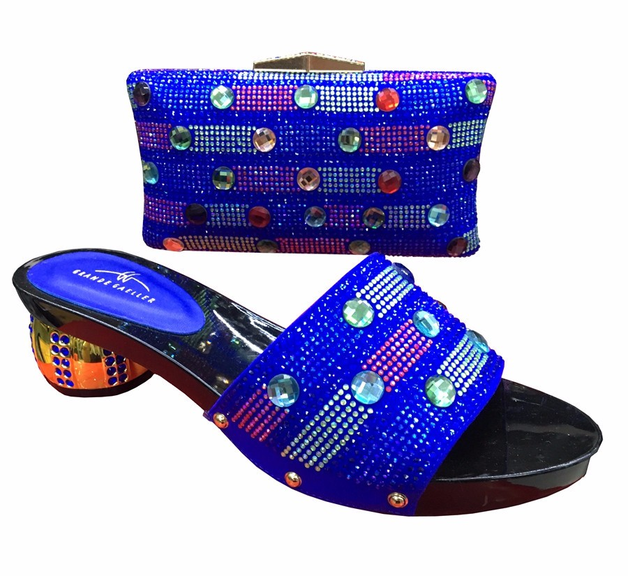Italian African Women's Shoes And Matching Bag Set With Rhinestones Shoes And Bags TH102 In Red Color Size 37-43 Free Shipping