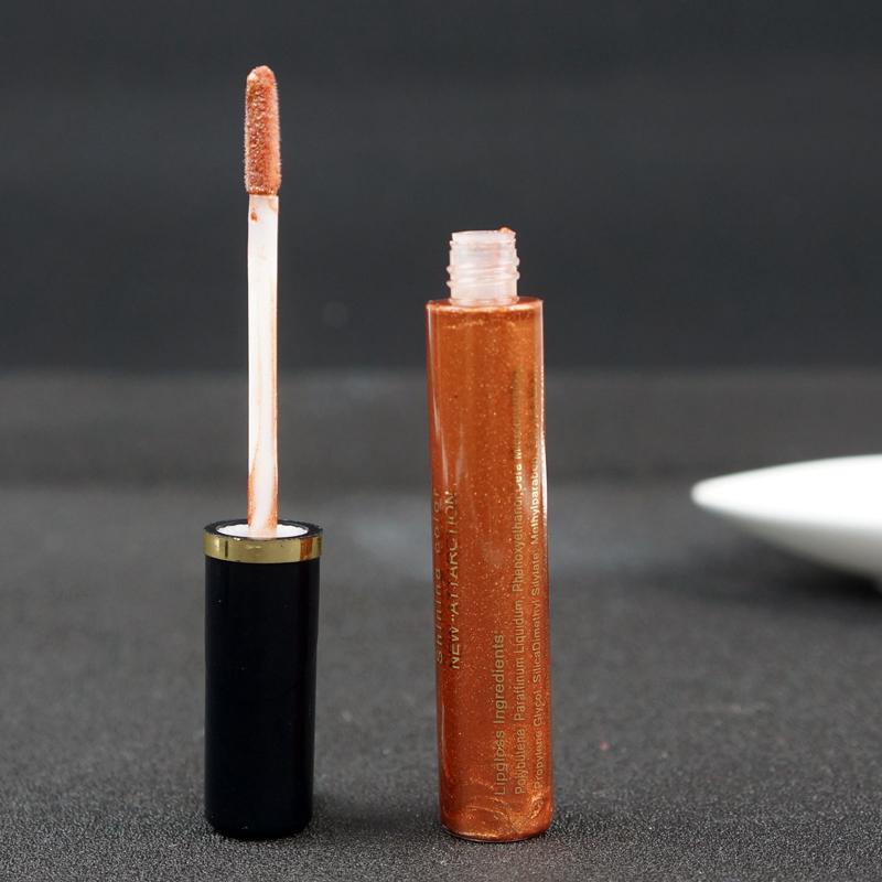 New Brand Makeup Punk Style Liquid lipstick Professional waterproof Golden Lip gloss lipstick Cosmetics maquiagem(China (Mainland))