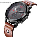 2017 Fashion Men s Sports Casual Male Watch Brown Leather Band Wrist Watches Men Clock Relogio
