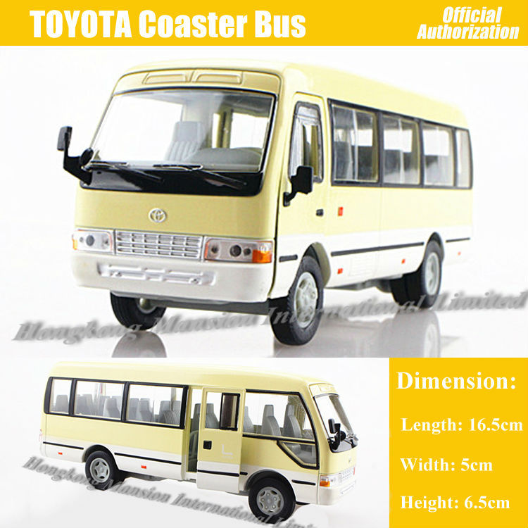 1:32 Scale Alloy Diecast Metal Car Model For TOYOTA Coaster Bus Collection Model Pull Back Toys Car With Sound&Light(China (Mainland))