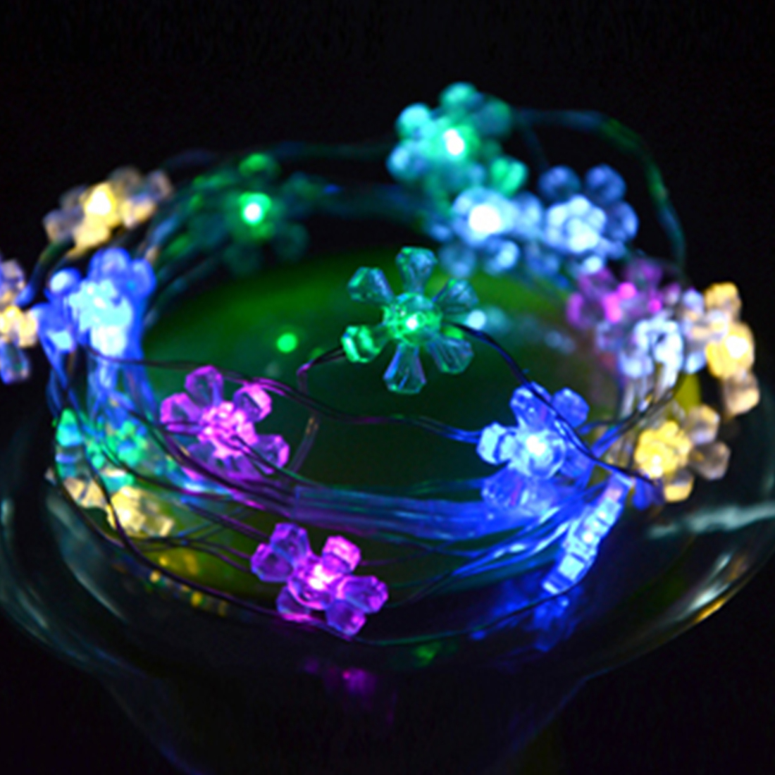 2M 20LED Battery Box Sun Flower LED String Light Wedding Party Garden Christmas Party Decoration(China (Mainland))