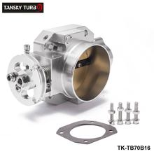 Buy TANSKY Aluminum Silver Intake Manifold 70mm Throttle Body Honda B16 B18 D16 F22 B20 D/B/H/F EG EK H22 TK-TB70B16 for $42.01 in AliExpress store
