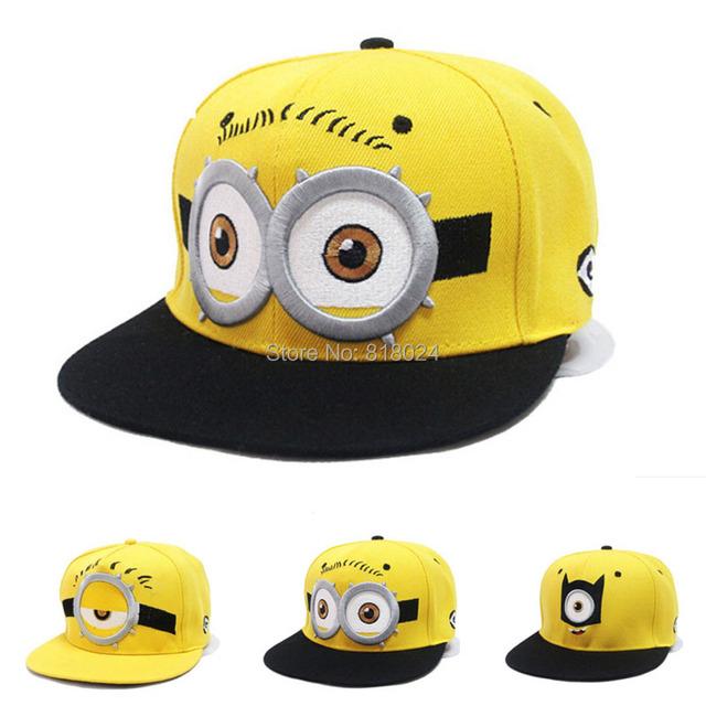 4 цвета для выбора гадкий я миньоны лето дети бейсболки регулируемый хип-хоп шляпа