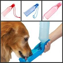 Potable Pet Dog Cat Water Feeding Drink Bottle Dispenser 500ml  Pet Water Dispenser Blue/Red/Pink(China (Mainland))