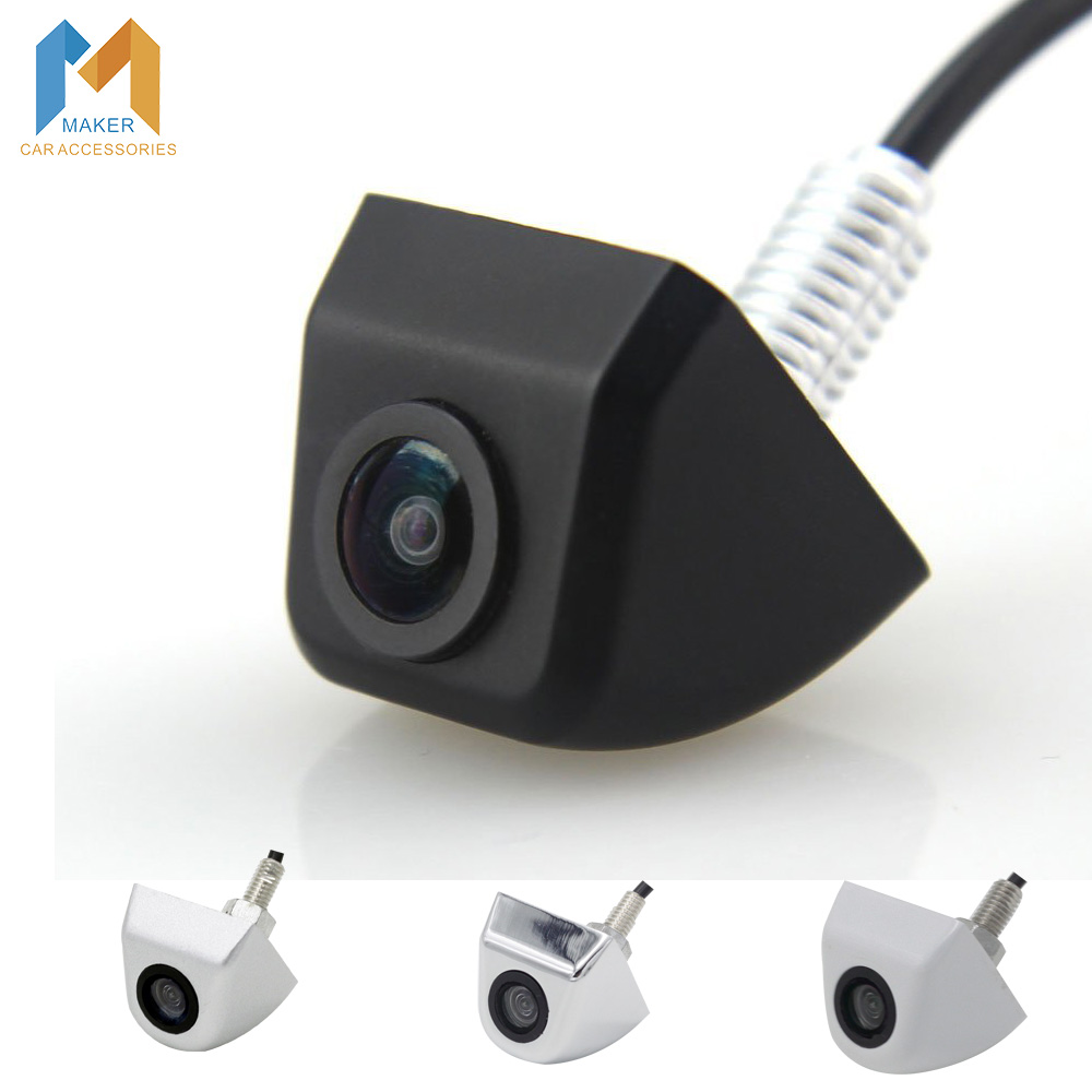 New Waterproof CCD Universal HD Car Rear view BackUp Reverse Parking Camera Front Side View Camera Black Chromed White Silver(China (Mainland))