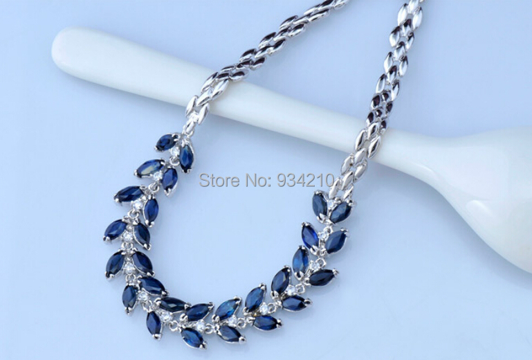 Здесь можно купить  100% Natural perfact sapphire bracelet with s925 chain, gemstone size 2.5mm*5mm*28pieces, good for love  Ювелирные изделия и часы