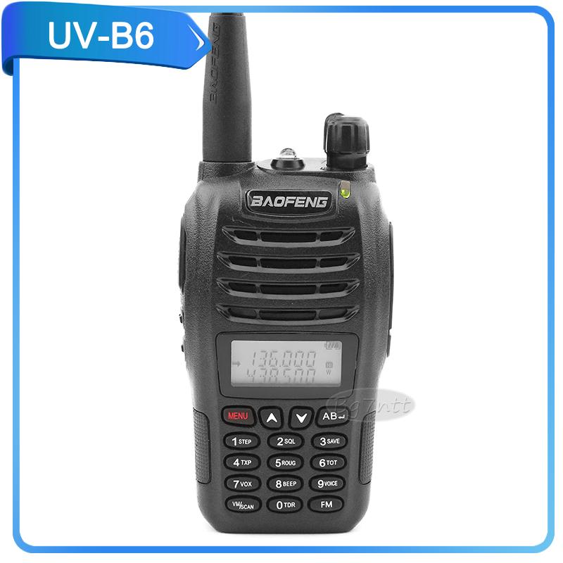 walkie talkie baofeng UV-B6 8W portable two way radio FM 5KM U/V cross band dual watch pofung UVB6 dual display dual standby(China (Mainland))