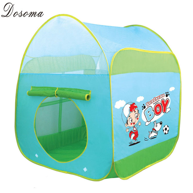 Cartoon Ocean Play Tent Kids Large Foldable Ball Pit Tent Pink and Green Cute Game House for Children Outdoor Toys Beach Tent(China (Mainland))