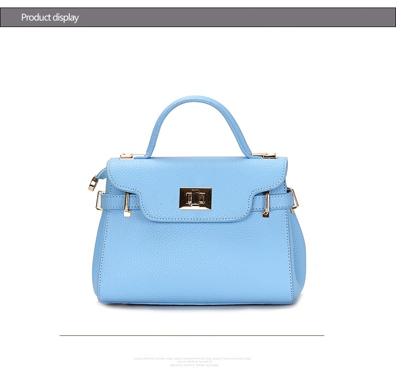 MINI Ladylike Handbag Women 2016 New Trendy High Quality PU Bag Twist Lock Flap Belt Ladies Designer Sweet Style Shoulder Bag