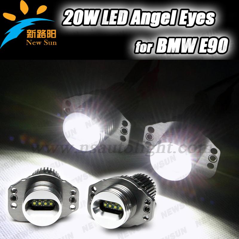 Здесь можно купить  White 7000K LED ANGEL EYE for BMW E90,E91 (328i,328xi,330xd,330i,335i,318d,320d,325d,330d) 12V led marker HEAD LIGHT HALO RING  Автомобили и Мотоциклы