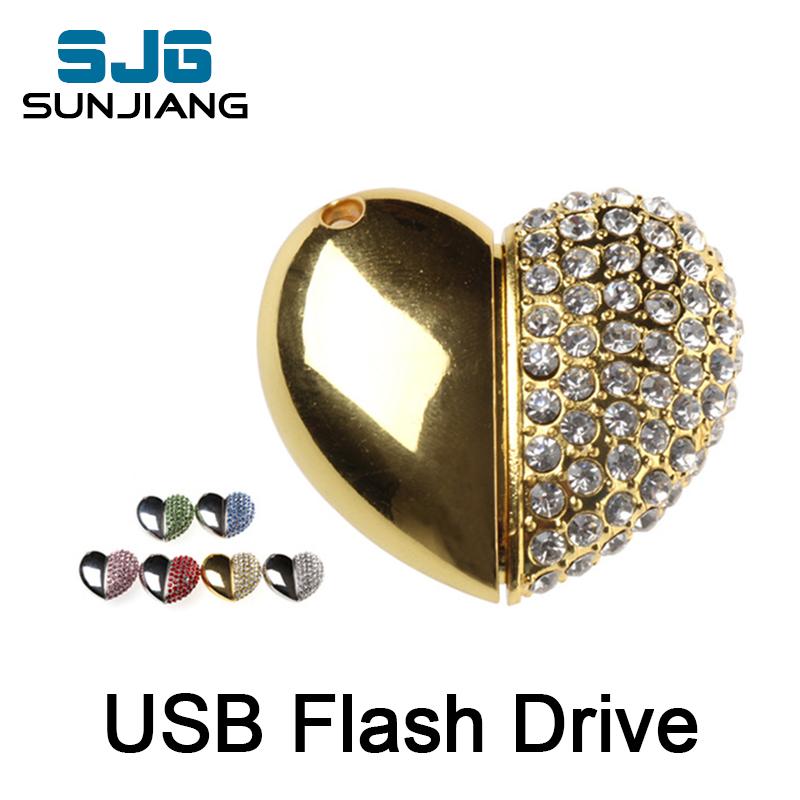 new arrival metal heart usb flash drive pendrive 4gb 8gb 16gb 32gb 64GB memory stick disk pendrive pen drive fashion cool gift(China (Mainland))