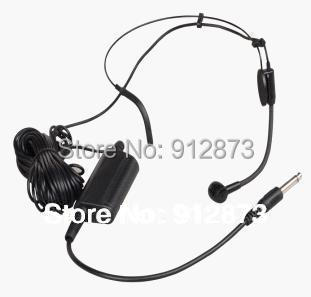 Free Shipping Professional 1.5V Battery box Headset Microphone with XLR 6.35 plug for PA Amplifier or Mixer 5 PCS / Lot