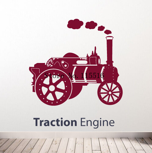 E418 Wall Stickers Home decor DIY poster Decal Nursery mural Vinyl Personized Traction Steam Engine Train Transfers(China (Mainland))