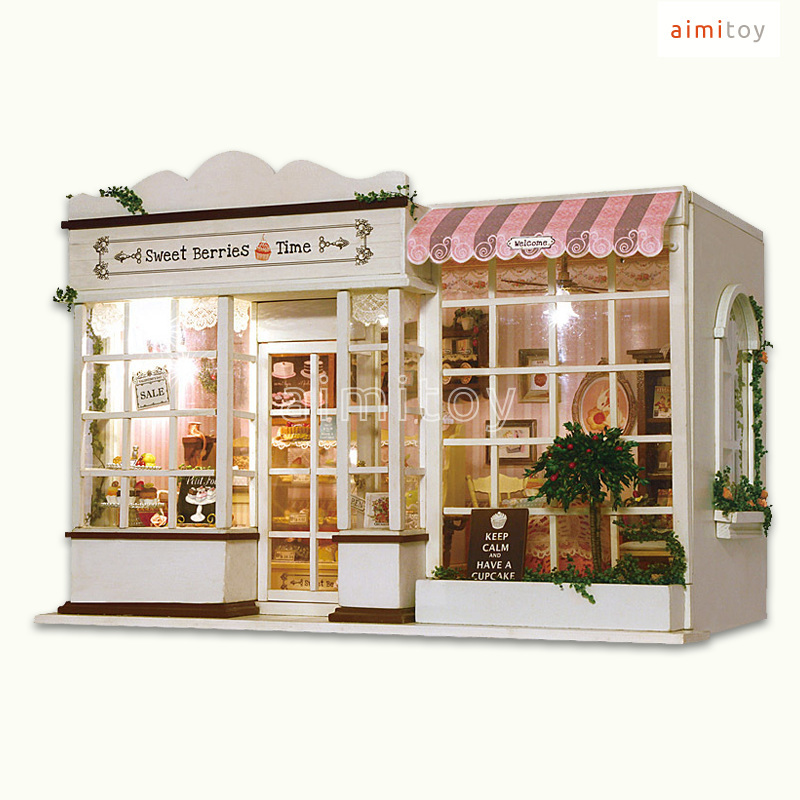 Doll House Cake Images : A29 Small Wood Doll House, Cake Shop, DIY Kits for Kids-in ...