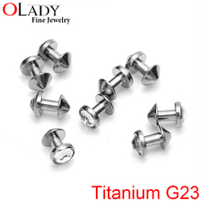 10Pcs/lot 100% Titanium G23 micro anchor dermal piercing jewelry skin diver jewelled Disc 3MM 4MM AAA Austria Crystal