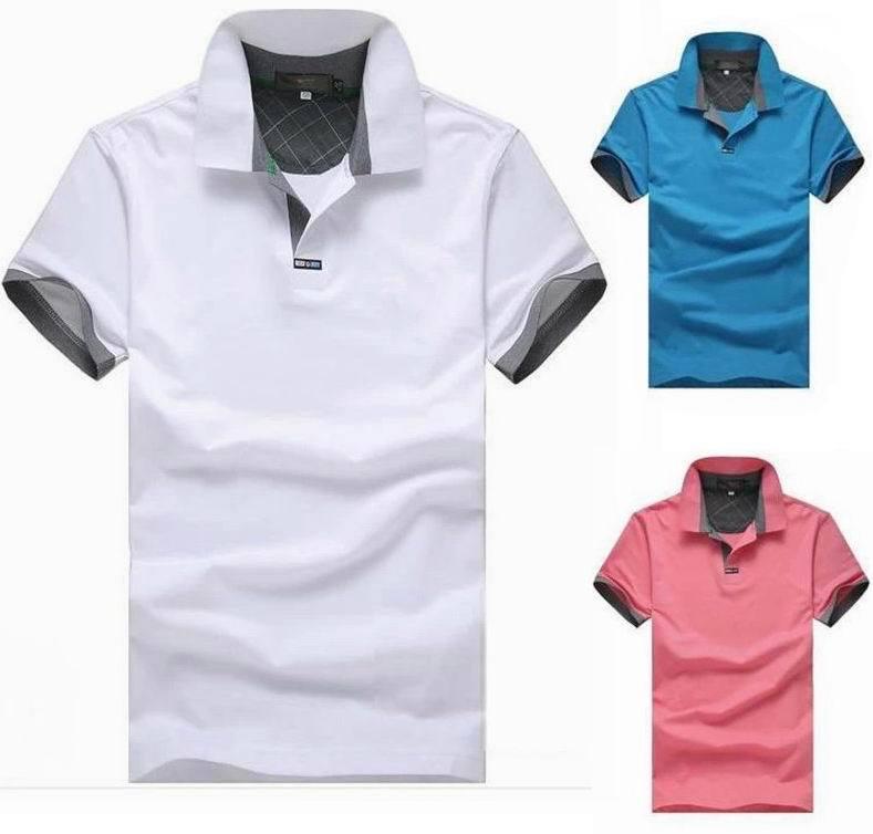 Camisa Polo 2015 New Cotton Brand Solid Shirt For Tennis Fishing Loose Anti-Wrinkle Fashion XXXL Polo Shirt Camisa Polo F023(China (Mainland))