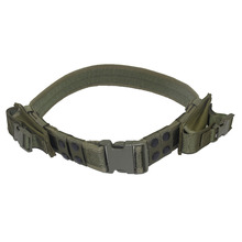 Wholesale Hight Quality Tactical Belt Adjustable Outdoor Hunting Cs War Games Belt Men Airsoft Waist Support 2 Pouches 3 Color(China (Mainland))