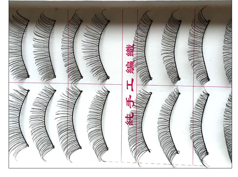 Hot 10 Pair Human Made False Eyelashes Extension Natural Eye Lashes Synthtic Hair Eyelashes Thick Lashes Tools Fake Eyelashes