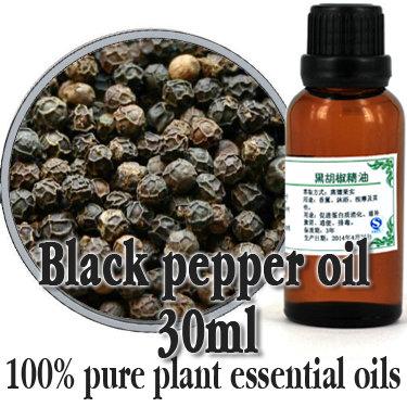 Free shopping 100% Pure plant black pepper essential oil essential oil 30ml stimulate the mind carminative exhaust<br>
