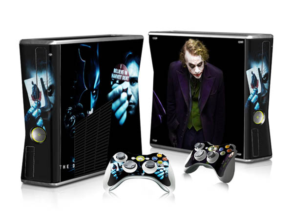 New Style Protector Vinyl Sticker for Xbox 360 slim and 2 controller skins sticker for x box 360 console(China (Mainland))