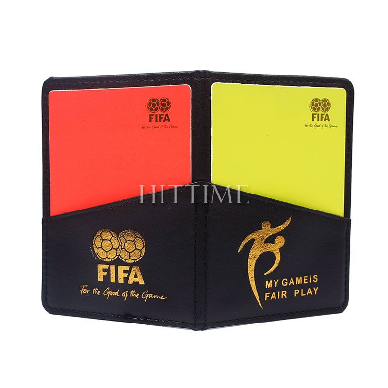 New Sport Football Soccer Referee Wallet Notebook with Red Card and Yellow Card #61881(China (Mainland))