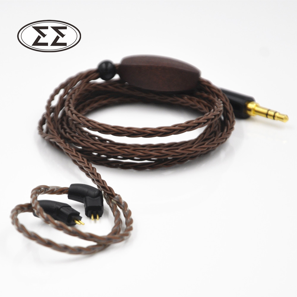 EASY X8 Custom Made Single Crystal Copper Plated Cable 8 Core Detach Cable For MH334 MH335 UM3X W4R and MMCX Connector(China (Mainland))