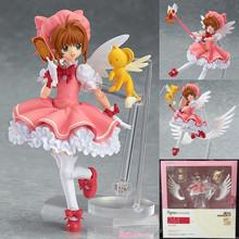 Anime Cardcaptor Sakura Figma 244 Kinomoto Sakura PVC Action Figure Collectible Model Toy 14cm LA014(China (Mainland))