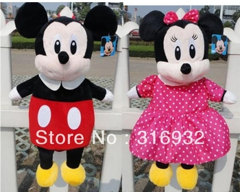 I4 New Arrival Mickey and Minnie series plush backpack for children, 1 pc