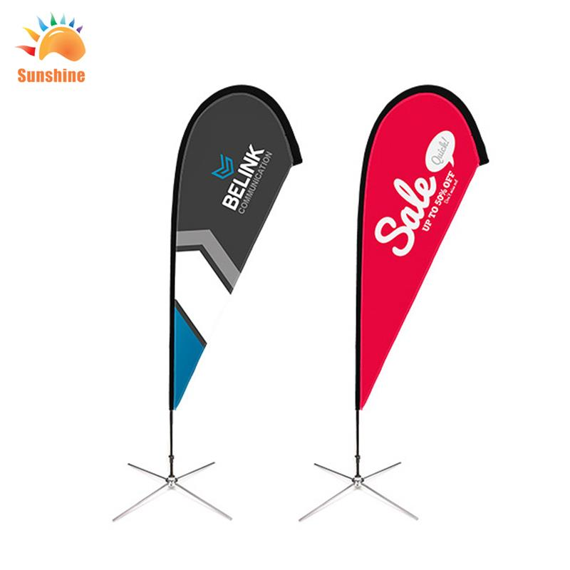 Polyester teardrop Flag Promotional usage Advertising exhibition event outdoor Flying Beach Flag banner stand(China (Mainland))